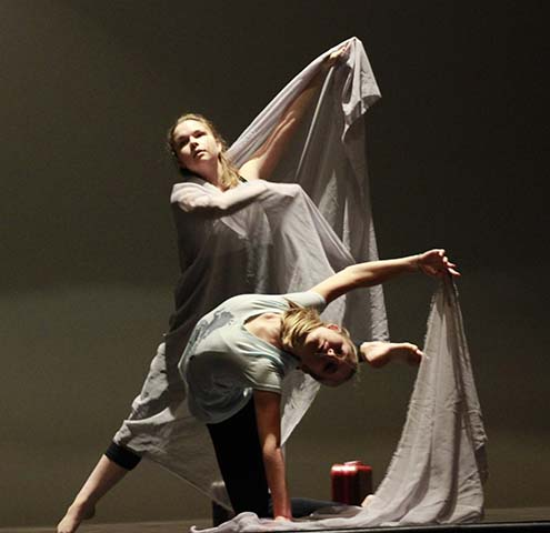 Photo of students performing , school of arts