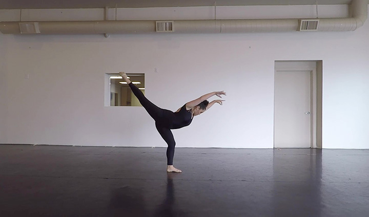 "Dancer performing ""Moment"""