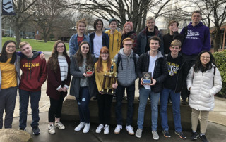 Members of Columbia River High School's 2020 Knowledge Bowl team