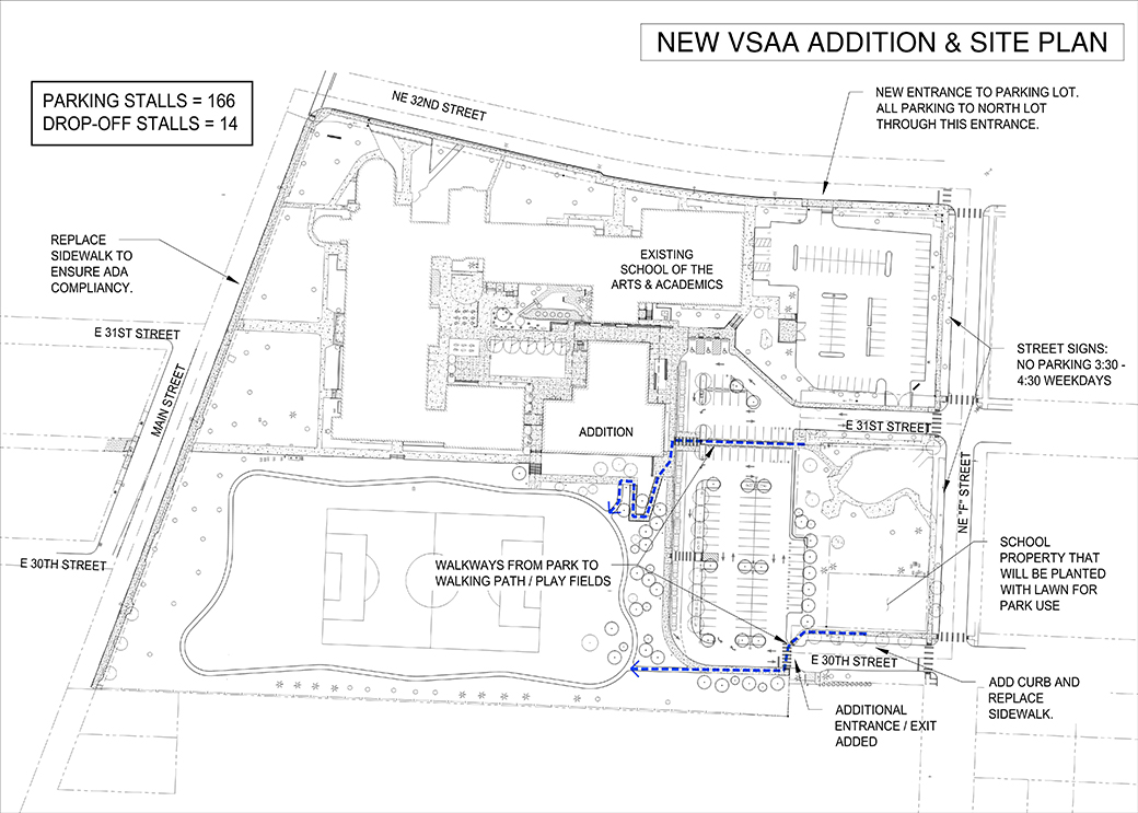 Plan showing the enhancements coming to the site of VSAA